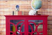 A pop of red / A point of interest in any room, here's how to incorporate a splash of red #PutTogether / by Sauder Furniture
