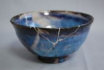 Kintsukuroi - to repair with gold / The art of repairing pottery with gold or silver lacquer and understanding that the piece is more beautiful for having been broken. Kintsukuroi - golden repair. Kintsugi - golden joinery.