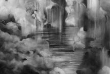 inside of a storm cloud / grey, gray, gris