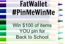 "FatWallet: #PinMeWinMe Pin-Off / Join our Pin-Off by creating a board with the title ""FatWallet: Pin Me Win Me Pin-Off"" All you have to do is pin at least 5 things from our merchants, and 5 things that remind you of school. The winner will be randomly selected, and will win $100 worth of items related to your board. - 08.31.2014  / by Monica Kim"