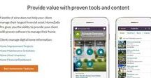 HomeZada  Features / Highlighting in this board features of HomeZada software that is helpful to real-estate agents, professional organizerz,  contractors and insurance providers.