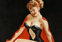 Pin Ups / Pin up girls were endorsed by the U.S. government to boost morale by presenting an all-American view of the sweetheart waiting for our soldier- the girls worth fighting for. The gals that balanced natural beauty with style, grace and confidence.  / by Brenda Abbott-Shultz