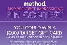 method Inspired First Impression Pin Contest / show us your fancy foyers for a great first impression of your home. submission period is from 3/11-4/11/15. #firstimpressions #methodcandles  / by Monica Kim