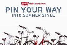 Ride into Summer in Style / Imagine a summer of style! Our team shares their example of an ideal bicycle excursion in the city of love with their favorite Levi's! Show us where you would go and what you would wear for a chance to win a family of bicycles and $100 Levi's gift card to help jump start your fashion! Visit http://schw.in/ZVFN to learn more about how you could WIN! - 04.30.2015  / by Monica Kim