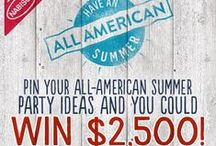 All-American Summer Party / How would you plan your perfect summer celebration? Create your own Pinterest board for an All-American summer and share it with us at NabiscoSummer.com! Have an All American Summer with Nabisco #sweepsentry - 07.02.2015  / by Monica Kim