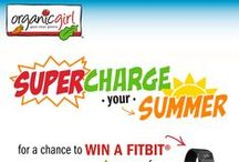 """organicgirl summer supercharge / enter our giveaway to win a Fitbit + a year of FREE organicgirl greens! here's how to enter: 1. follow us at pinterest.com/organicgirl & check out our SUMMER SUPERCHARGE board for inspiration 2. create your own personal board titled """"organicgirl summer supercharge"""" [your personal board must include at least 4 re-pins from organicgirl's SUMMER SUPERCHARGE board] 3. fill out the form and submit the URL to your """"organicgirl summer supercharge"""" board below! http://bit.ly/1EwuFcf - 08.03.2015  / by Monica Kim"""