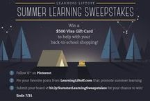 Summer Learning / Have some fun this summer, and avoid summer learning loss with these fun and educational ideas! #summerlearning #sweepstakes -- 07.31.2015  / by Monica Kim
