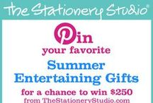 The Stationery Studio Summer 2015 Contest / Pin us your favorite Summer Entertaining gifts using -- 07.08.2015  / by Monica Kim
