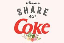 Coca Cola Wedding Inspiration / Did you know that you can create personalized Coke bottles with names of your friends and family?  #shareacoke #shareacokecontest -- 08.01.2015  / by Monica Kim