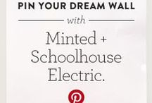 Minted + Schoolhouse Electric – My Dream Wall / Have you just moved into a new place or are you ready to refresh your space? Then we have just contest for you! Minted + Schoolhouse Electric have partnered together for you to pin to win your dream wall for a chance to win a $1,000 shopping spree for your home. -- 11.02.2015 / by Monica Kim