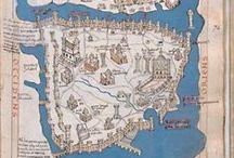 Maps of İstanbul, Constantinopolis, Byzantium Haritaları