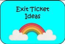 Exit Ticket Ideas