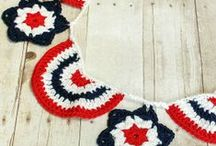 National Holidays / Crochet July 4th and Canada Day projects