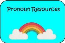 Pronoun Resources / Resources to teach pronouns
