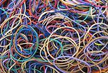 Trapillo, kumihimo & rainbow loom and string teory / by Angie Ari Coll