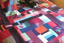 Upcycled wool quilt & blanket ideas