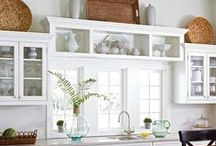 INTERIORS - WHITE KITCHENS / Modern American Farmhouse kitchens and updated transitional modern kitchens