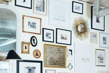 DESIGN - GALLERY WALLS / how to build a gallery wall