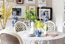 INTERIORS - DINING ROOM / Modern American Farmhouse and Contemporary Traditional and Transitional Dining Rooms