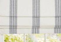 DESIGN - WINDOW TREATMENTS / roman shades for living and master bedrooms