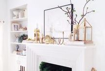 INTERIORS - MANTEL STYLING & IDEAS / Styling fireplace mantels