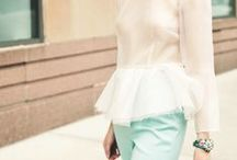 Senior Style - Pastels / Beautiful pastel styles for spring and summer senior looks.