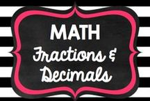 Teaching: Math: Fractions & Decimals / by Rock and Teach