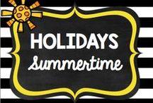 Holidays: SUMMERTIME!