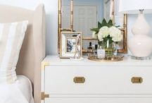 INTERIORS - MASTER BEDROOMS / Master bedrooms with pops of blue or gray. Master Bedrooms