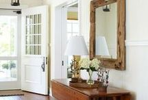 INTERIORS - ENTRYWAYS / Formal foyers to casual entrances for a modern american farmhouse or transitional home