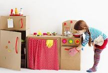 Recycling Ideas for Kids / Toys you can make with the kids using cardboard and other recycled material.