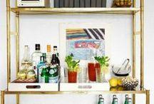 Bars + Bar Carts / Organizing and styling your home bar. / by StyleCarrot • Marni Katz