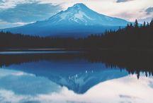 Mountain + Lake + River /