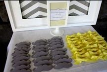 Gender Reveal Party / Grey and Yellow Themed Party