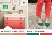 Color Board: Coral Pink / Coral Pink is a fun alternative to the standard baby pink. It looks great in nurseries and on clothing.