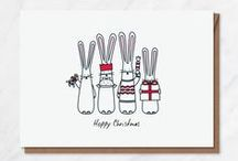 Festive Bunnies / Even bunnies like to get a little festive at Christmas...