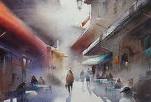 Art & Illu - Watercolor / Watercolors, artworks and illustrations, drawings and paintings
