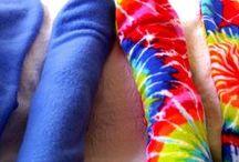 Handmade Fleece Socks for Warm Happy Feet / Handmade fleece socks for men and women, leg-warmers,  arm-warmers, yoga socks, pedicure socks.