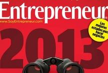 2012: Revista Entrepreneur  / Las portadas de la Revista Entrepreneur de 2012.