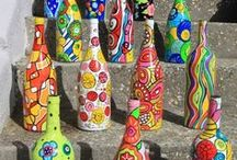 Art...Wine Bottle..Ideas / by Christine Campbell