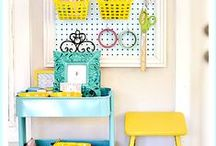 Home: Craft & Sewing Room / Great ways to organize and decorate my sewing studio. / by Hey, Let's Make Stuff {Cori George}