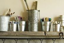 Home: Craft & Sewing Room / Great ways to organize and decorate my sewing studio. / by Hey, Let's Make Stuff