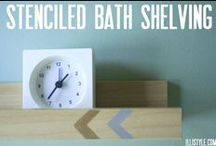 Home: Bathroom / Inspiring pins for remaking our bathrooms. / by Hey, Let's Make Stuff {Cori George}