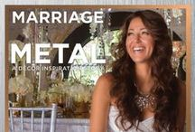 """Marriage of Metal: A Decor Inspiration Story {Real Bride Model: Vanessa Sevart} / From the """"Marriage of Metal"""" feature in the WS14 issue of Real Weddings, Photos by www.LilyRosePhotography.com © RWM; Hair/Makeup: www.SpecialEventHairandMakeup.com; Gown: www.AlwaysElegantBridal.net; Accessories: www.Macys.com; Flowers: www.AmbienceFloral.com; Design: www.CatrinaMaria.com; Decor: www.DogwoodPartyRentals.com and www.CelebrationsPartyRentals.com. For all vendors and more, see: http://www.realweddingsmag.com/marriage-of-metal-blog-series-get-to-know-real-bride-model-vanessa-sevart"""