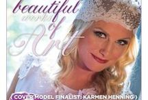 """Beautiful Works of Art {Karmen Henning} / From the """"Beautiful Works of Art"""" Cover Model Contest feature in the Winter/Spring 2014 issue of Real Weddings Magazine, Photography by www.SharpePhotographers.com © Real Weddings Magazine, www.realweddingsmag.com. To see more, including a full list of all of the professionals on this shoot, visit: http://www.realweddingsmag.com/real-weddings-cover-model-finalist-karmen-henning-beautiful-works-of-art/"""