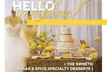 """Eye Candy: Hello Sunshine {The Sweets: Sugar & Spice Specialty Desserts} / From the """"EYE CANDY: HELLO SUNSHINE"""" feature in the Winter/Spring 2014 issue of Real Weddings Magazine! Photography by www.AndreasImages.com © Real Weddings Magazine; Design/Styling: www.KateMillerEvents.com; Sweets: www.SugarAndSpice.me; Flowers: www.VisualImpact-Design.com -- for a full list of vendors in this editorial story, visit: http://www.realweddingsmag.com/eye-candy-hello-sunshine-the-sweets-from-sugar-spice-specialty-desserts/"""