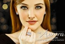 Aurora Designs / Secrets new designer creations, the Aurora Collection introduces a stunning style of cut stone offering luxury that is no longer a fantasy for women around the globe. This exquisite collection is available in white, yellow and rose gold... http://www.secrets-shhh.com/shoponline/new/the-aurora-collection / by Secrets Shhh