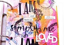 Bible Journaling Artwork/Pages / Making art and getting closer to the Father that loves me. / by Bonita Rose