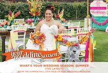 """What's Your Wedding Season: Summer {The Layout} / From the """"What's Your Wedding Season: Summer"""" feature in the SF2014 issue of Real Weddings, Photos: www.WhiteDaisyPhoto.com © www.realweddingsmag.com; Venue: www.WhitneyOaksGolf.com; Styling/Coordination: www.Strings-Champagne.com; Styling/Floral Design: www.PoshFloristInc.com; Rentals: www.CelebrationsPartyRentals.com; www.AmericasPartyRental.com; www.DogwoodPartyRentals.com; www.SimpleCountryWeddings.com See full list of vendors: http://www.realweddingsmag.com/?p=42049"""