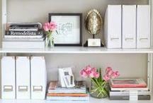 Living spaces- Bookshelf styling / by Lemonade Makin Mama